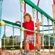 Suspension bridge on playground — Stock Photo