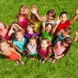Super happy large group of kids — Stock Photo #32013137
