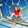 I've climbed on top of the playground — Stock Photo