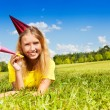 Stock Photo: Teen girl ready for birthday party