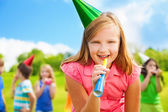 Fun at birthday — Stock Photo