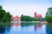 Trakai castle view from the vilage — Stock Photo