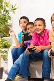 Garotos gamers — Fotografia Stock