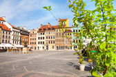 Nice old marketplace square in Warsaw — Stock Photo