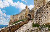 Trail and main gates of the Spis castle — Stock Photo
