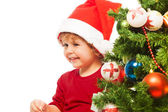 Boy and Christmas — Stock Photo