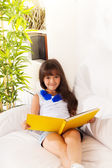 Happy reading girl — Stock Photo