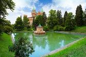 Bojnice castle and pond — Stock Photo