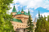 Towers of Bojnice stronghold — Stock Photo