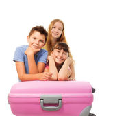 Boys and girls anticipating vacation — Stock Photo