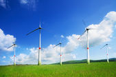 Many beautiful wind turbine — Stock Photo