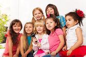 Chorus of kids sing — Stock Photo