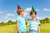 Birthday party noise — Stock Photo