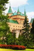 Widok na ogród zamek bojnice — Zdjęcie stockowe