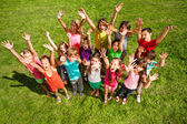 14 happy kids — Stock Photo
