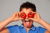 Crazy about vegetables — Stock Photo