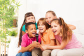 Sing is fun when it is group of kids — Stock Photo
