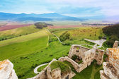 Panorama of Spis castle ruins — Stock Photo