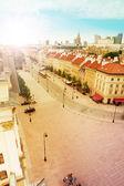 Krakowskie Przedmiescie street panorama — Stock Photo
