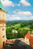 View fro Bojnice castle tower — Stock Photo