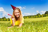 Teen girl ready for birthday party — Stock Photo