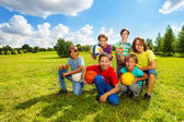 Happy active kids — Stock Photo