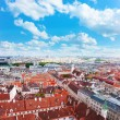 Red roofs of the houses in Vienna — Stock Photo