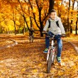 Boy in the autumn park  — Lizenzfreies Foto