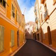 Narrow old town street Monaco — Stock Photo
