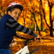 Boy in autumn park — Stock Photo #36199753