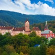 Loket castle and town — Stock Photo