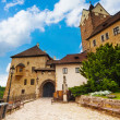 Gates of Loket castle — Stock Photo