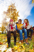 Group smiling happy kids — Stock Photo
