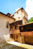 Chillon castle inner yard — Stock Photo