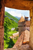Loophole of chateau de Chillon — Stock Photo