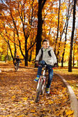 Boy in the autumn park — Stock Photo