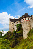 Town castle walls and towers — Stock Photo