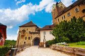 Gates of Loket castle — Stock Photo