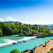 Aare river in Bern — Stock Photo