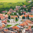 Spissky hrad village panorama center — Stock Photo