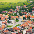 Stock Photo: Spissky hrad village panoramcenter