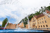 Fountain in Liechtenstein — Stock Photo