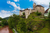 Loket castle and river — Stock Photo