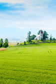 Beautiful small church in Slovakia — Stock Photo