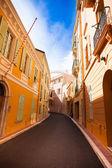 Street in old town in Monaco — Stockfoto