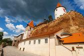 Krivoklat town and castle — Foto de Stock