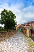 Strade della città vecchia di loket — Foto Stock