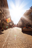 Kramgasse and Marktgasse streets — Stock Photo