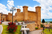 Bolsena billage castle and lake — Stockfoto