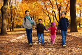 Group of four black boys and girl — Stock Photo